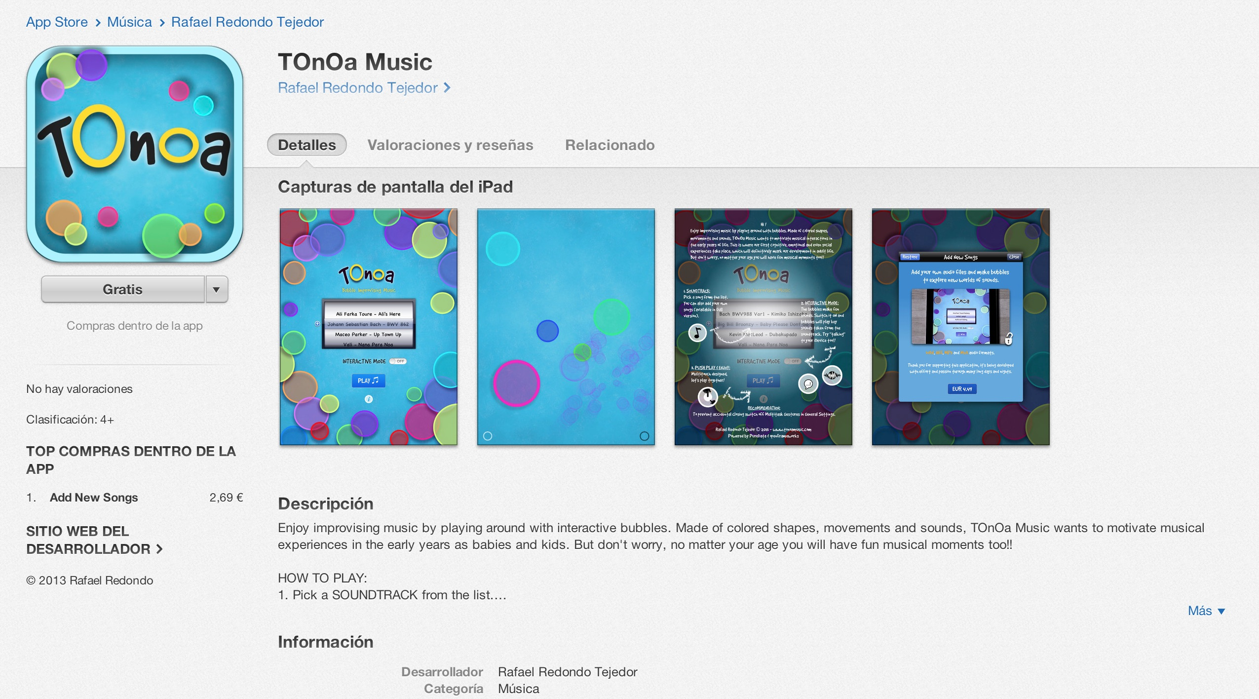 TOnOa Music on Internet